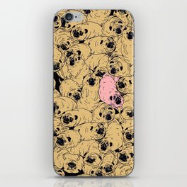 a lot a of pugs iPhone Skin