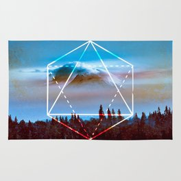The Elements Geometric Nature Element of Air Rug