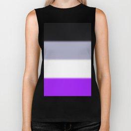 Asexual Pride Flag v2 Biker Tank