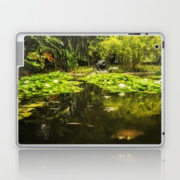 Turtle in a Lily Pond Laptop & iPad Skin