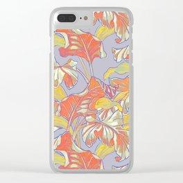 Cool Banana Leaf Clear iPhone Case