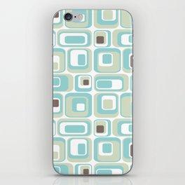 Retro Rectangles Mid Century Modern Geometric Vintage Style iPhone Skin