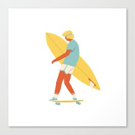 Skater from 70s Canvas Print