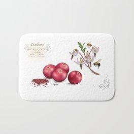 Cranberry and Pollinators Bath Mat
