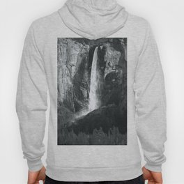 Bridalveil Falls. Yosemite California in Black and White Hoody