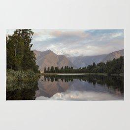 New Zealand Lake at sunset Rug