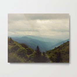 THE LIGHT THROUGH THE CLOUDS Metal Print