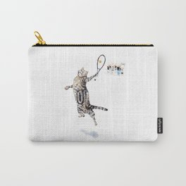 Cat Playing Tennis Carry-All Pouch