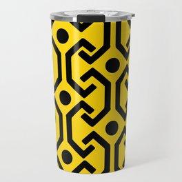 Ethnic Pattern (Yellow) Travel Mug