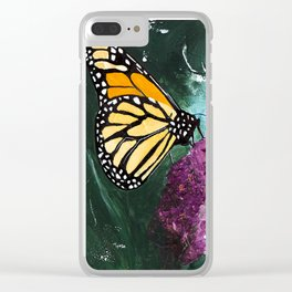 Butterfly - Soft Awakening - by LiliFlore Clear iPhone Case