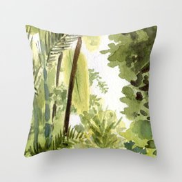 Brooklyn Botanical Garden - Tropics Throw Pillow