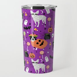 Boston Terrier Halloween - dog, dogs, dog breed, dog costume, cosplay cute dog Travel Mug