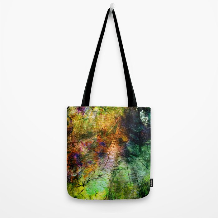 ink in wood Tote Bag