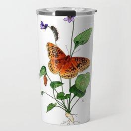 Spangled Fritillary and Violet Travel Mug