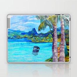 Tardis on the Beach Laptop & iPad Skin