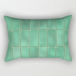 Cyan Tiles Rectangular Pillow