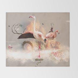 Flamingo land Throw Blanket