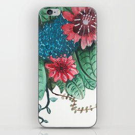 Ruby Botanical 3 Floral Watercolor iPhone Skin