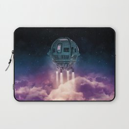Out of the atmosphere / 3D render of spaceship rising above clouds Laptop Sleeve