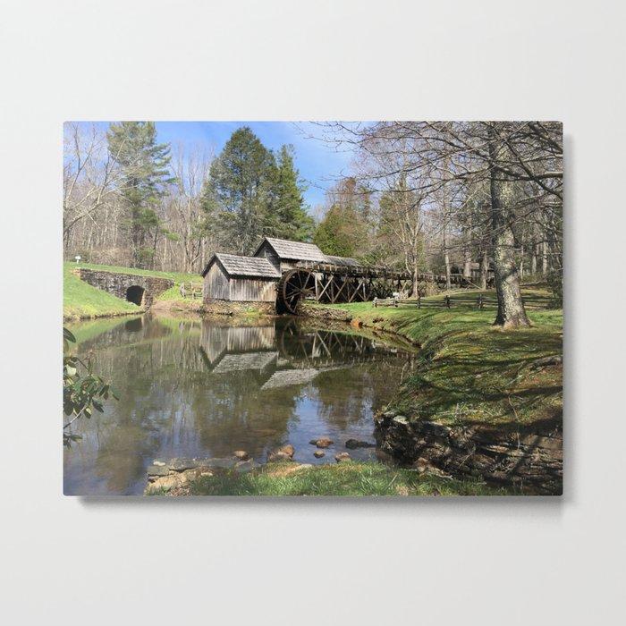 Water wheel Meadows of Dan Metal Print