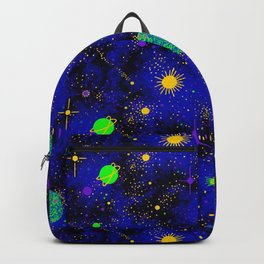Wrinkle Planet Pattern Backpack