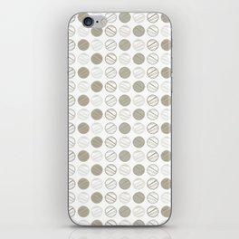 Dancing Grey Circles by Deirdre J Designs iPhone Skin