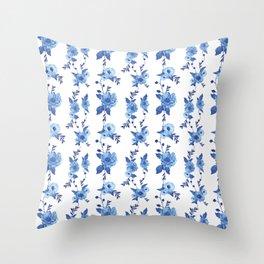 CB x SK BLUE FLORAL Throw Pillow