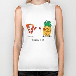 NO pineapple on pizza pls Biker Tank
