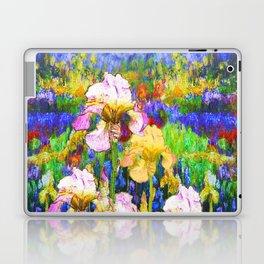BLUE YELLOW IRIS GARDEN REFLECTION Laptop & iPad Skin
