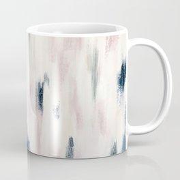 Blush Pink and Blue Pretty Abstract Coffee Mug