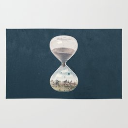There's A City Where Time Stopped Long Ago Rug