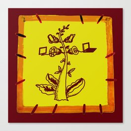 tree with a computer , telephone and other device . https://society6.com/vickonskey/s?q=popular+prin Canvas Print