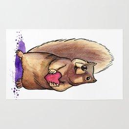 Squirrel Loves You Rug
