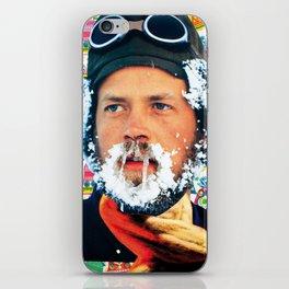 Hipster beard Xmas iPhone Skin