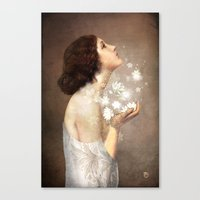 lady gaga Canvas Prints featuring Wish by Christian Schloe