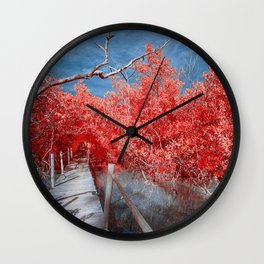 Pier Thru Woods Wall Clock
