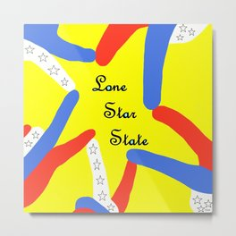 Lone Star State of Texas Metal Print