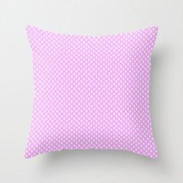 Tiny Paw Prints Pretty Pink Pattern Throw Pillow