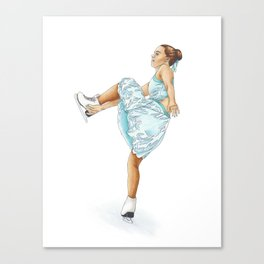 Figure Skating Heel Grab Canvas Print