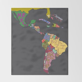 Map. Mapa. Carte. Dos! Throw Blanket