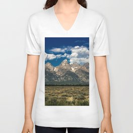 The Grand Tetons - Summer Mountains Unisex V-Neck