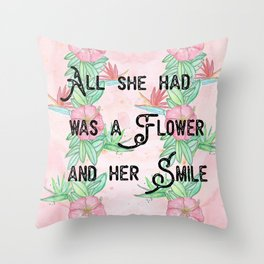 Surfer girl quotes Throw Pillow