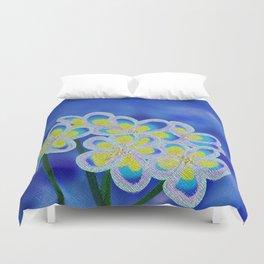 Blue Lillies Duvet Cover