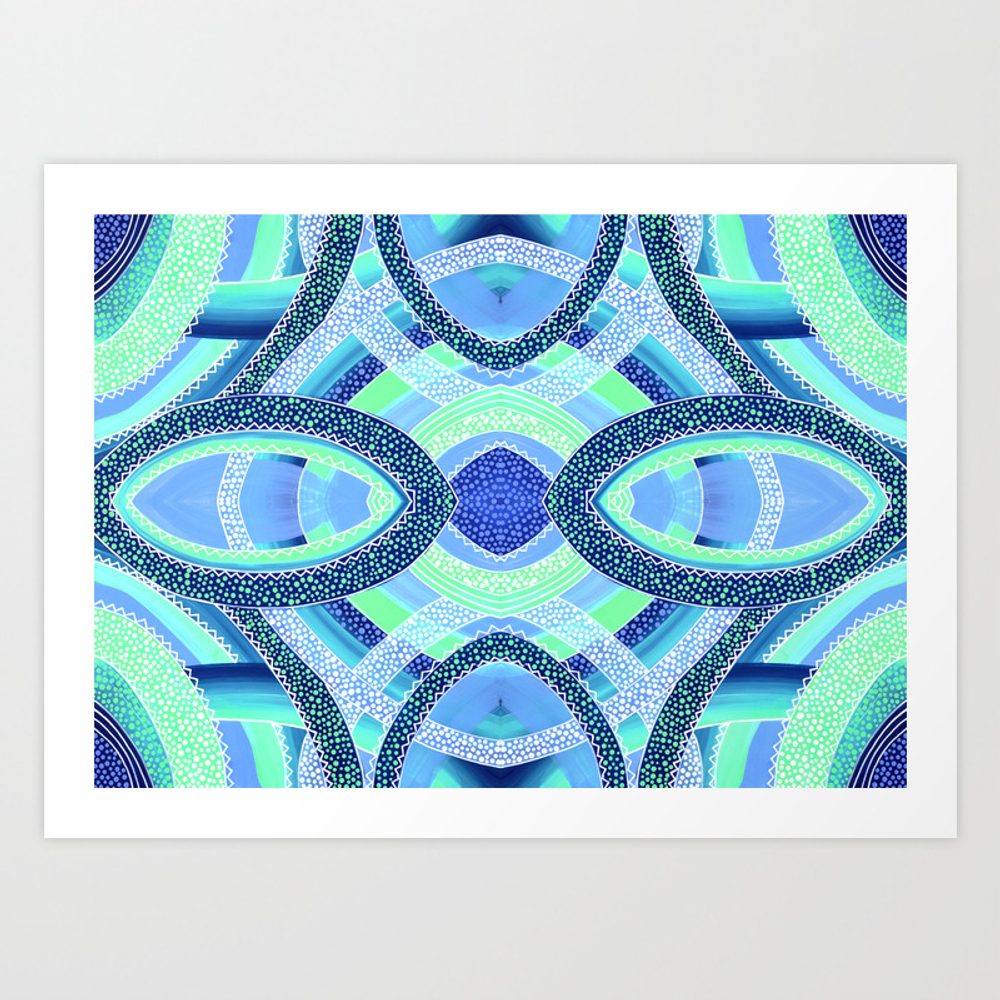 Flying Saucer Art Print by Orlyfuchsgalchen PRN8670193