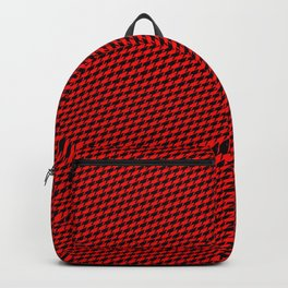 Baby Sharkstooth Sharks Pattern Repeat in Black and Red Backpack