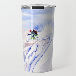 Powder Skiing Travel Mug