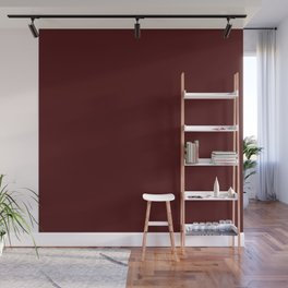 Simply Maroon Red Wall Mural
