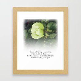 Green Rose  - Tea with Roses Framed Art Print