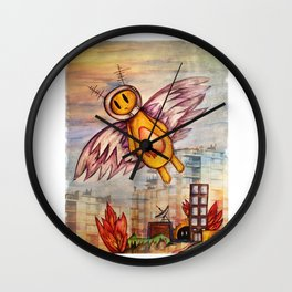 Robot fly away Wall Clock