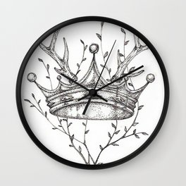 Crown and Stag Wall Clock